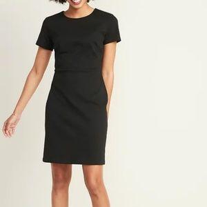 Black Old Navy Ponte Knit Sheath Dress NWT